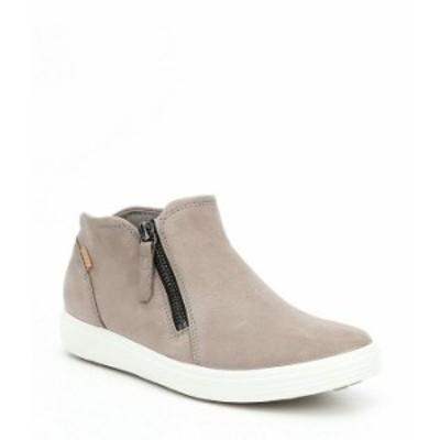 エコー レディース スリッポン・ローファー シューズ Women's Soft Low Cut Zip Bootie Sneakers Warm Grey/Powder