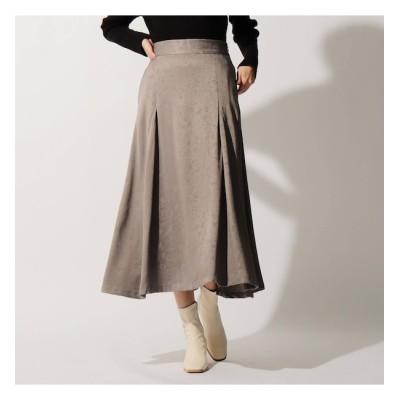 【オゾック/OZOC】 ボタニカル柄ジャカードマキシスカート