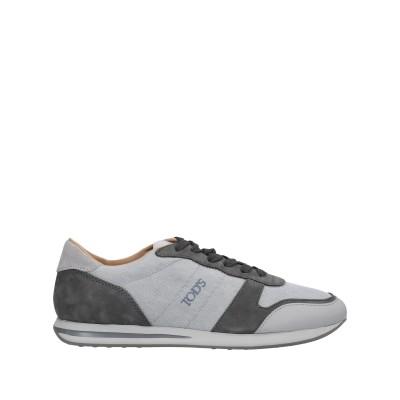 トッズ TOD'S スニーカー&テニスシューズ(ローカット) グレー 6 革 / 紡績繊維 スニーカー&テニスシューズ(ローカット)