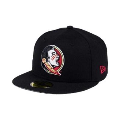 ニューエラ メンズ 帽子 アクセサリー Florida State Seminoles AC 59FIFTY Fitted Cap Black