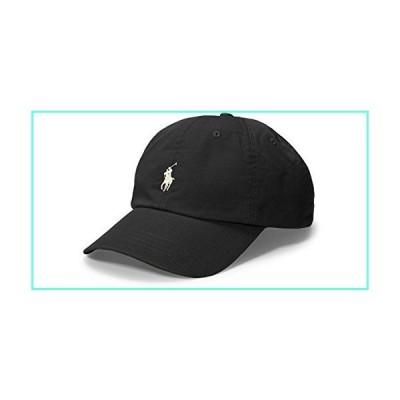 Ralph Lauren Mens Polo Sports Pony Logo Hat Cap (One Size, Black (White Pony))並行輸入品