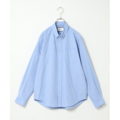 【イッカ】 オックスボタンダウンシャツ形態安定 メンズ ライト ブルー M ikka