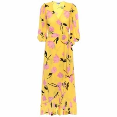ガニー Ganni レディース ワンピース ラップドレス ワンピース・ドレス floral wrap dress Minion Yellow