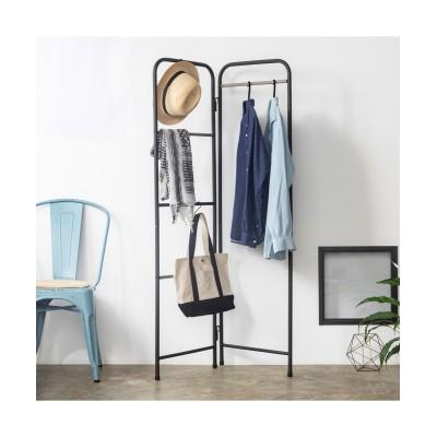 パンツ収納に便利な折りたたみハンガーラック(S字フック2個付き) ハンガーラック・ワードローブ, Clothes racks(ニッセン、nissen)