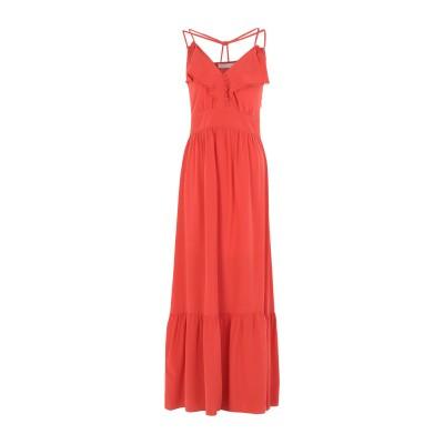 VANESSA BRUNO ロングワンピース&ドレス コーラル 36 シルク 100% / コットン ロングワンピース&ドレス