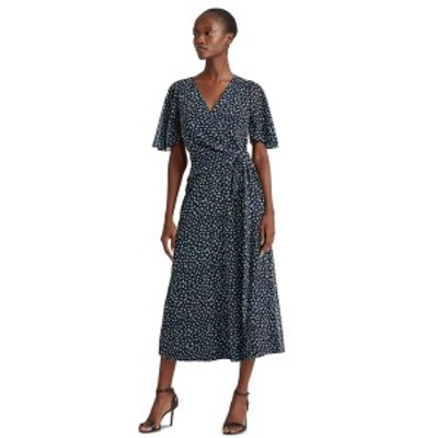 ラルフローレン レディース ワンピース トップス Floral Georgette Dress Navy/Blue Multi