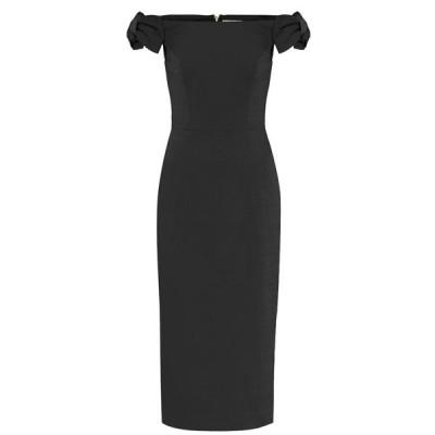 レベッカ ヴァランス Rebecca Vallance レディース ワンピース ミドル丈 ワンピース・ドレス winslow crepe midi dress Black
