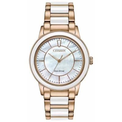 シチズン 腕時計 Citizen レディース Chandler クロノグラフ Two-Tone Bracelet Watch EM0743-55D