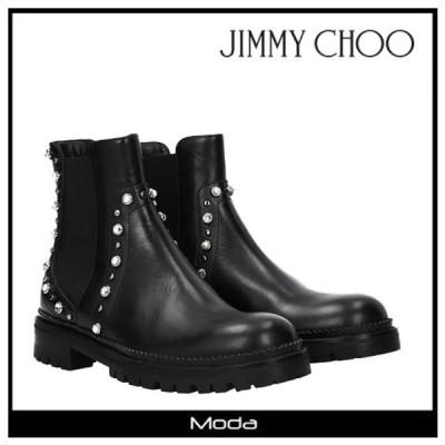 ジミーチュウ ショートブーツ レディース 黒 ブラック Jimmy Choo 靴 BURROW