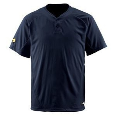 ds-1047438 デサント(DESCENTE) ベースボールシャツ(2ボタン) (野球) DB201 ブラック M (ds1047438)