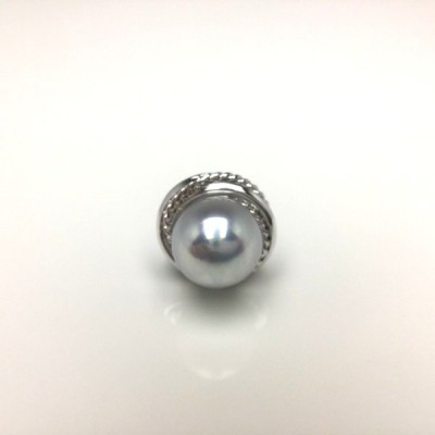真珠 ネクタイピン パール アコヤ真珠 8.0-8.5mm シルバー 65593