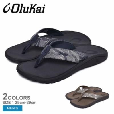 オルカイ サンダル メンズ ビーチサンダル ハワイ 靴 黒 海 OLUKAI 'OHANA PA'I 10437