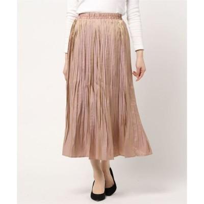 スカート ☆ オーロラサテン 86丈 消しプリーツスカート