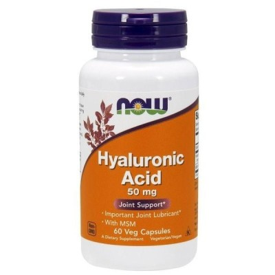 ナウフーズ ヒアルロン酸(MSM含有)50mg 60ベジカプセル Now Foods Hyaluronic Acid With MSM 60 Vcaps