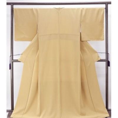 色無地 新品仕立済 正絹 草木堅牢染め イエローベージュ 色無地 新品 仕立て上がり 着物 送料無料