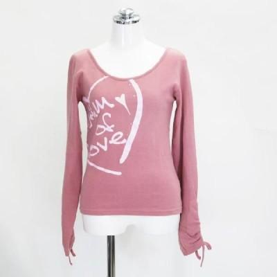長袖Tシャツ ピンク 9号 Mサイズ