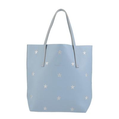 NUR DONATELLA LUCCHI ハンドバッグ スカイブルー 革 100% / ポリエステル ハンドバッグ