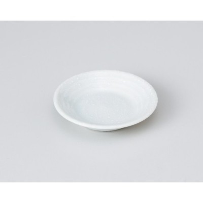 〔美濃焼 小皿〕 白吹青磁型入2.5皿 (3個組)