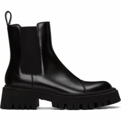 バレンシアガ Balenciaga メンズ ブーツ シューズ・靴 Black Tractor Boots Black