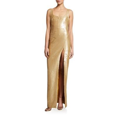 ライクリー レディース ワンピース トップス Mineo Sequin Column Gown w/ Thigh Slit