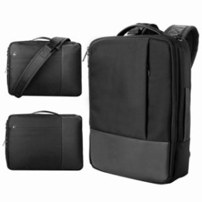 pcパソコン リュック バッグ 3way 手提げ 斜め掛け メンズ レディース 通勤 出張 ビジネス 多機能 15.6インチまで対応