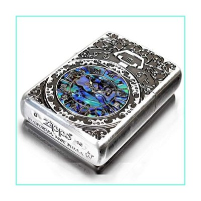 Zippo Armor Case Watch Arabesque Shell Inlay Both Sides Etching Silver Japan Limited並行輸入品