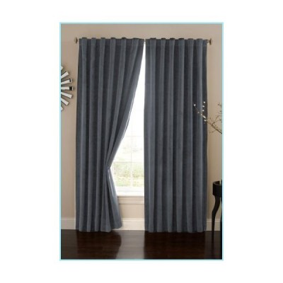 """新品ECLIPSE Bradley Thermal Insulated Single Panel Rod Pocket Darkening Curtains for Living Room, 50"""" x 95"""", Stone Blue"""