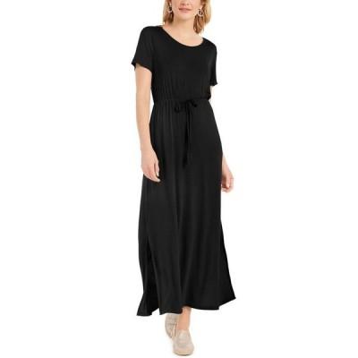 スタイルアンドコー レディース ワンピース トップス Tie-Waist Maxi Dress