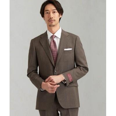 green label relaxing/グリーンレーベル リラクシング [ 御幸毛織 ] 撚杢 無地 2B SG NT HP- スーツ ジャケット MD.BROWN 50