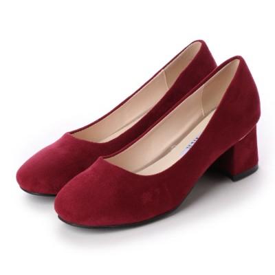 ジェミニ GeMini チャンキーヒール パンプス 痛くない 脱げない 結婚式 太ヒール ゴールド  フォーマル 靴  6103 (SuedeWine)