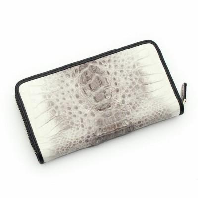 S'FACTORY 革財布 フリースタイル ファスナーウォレット クロコダイル ビンテージホワイト(ワニ革)