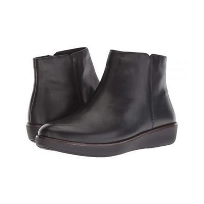 FitFlop フィットフロップ レディース 女性用 シューズ 靴 ブーツ アンクル ショートブーツ Ziggy Zip - Black