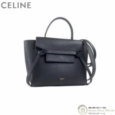 美品 セリーヌ(CELINE) ベルトバッグ ナノ 2way ハンド ショルダー バッグ 18900 Black 中古