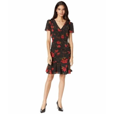 ミリー ワンピース トップス レディース Pam Brushed Floral Print Silk Dress Black Multi