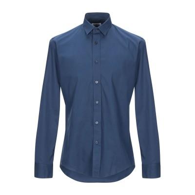 ビッケンバーグ BIKKEMBERGS シャツ ダークブルー 39 コットン 96% / ポリウレタン 4% シャツ
