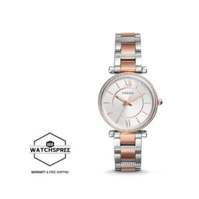 腕時計 フォッシル Fossil Ladies' Carlie Three-Hand Two Tone Stainless Steel Band Watch ES4342