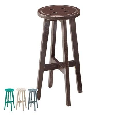 カウンタースツール 高さ60cm スツール 木製 天然木 椅子 イス チェア ハイスツール 円形 丸型 ( チェアー いす カウンターチェア 丸椅子 バーチェア )