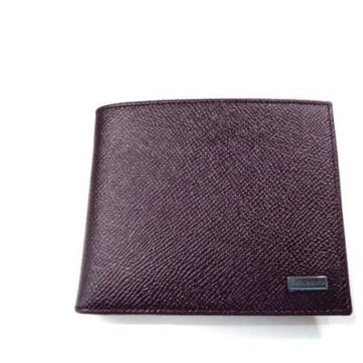 新品 メンズ ドルチェ&ガッバーナ 2つ折小銭入付財布 ワインレッド マルチ