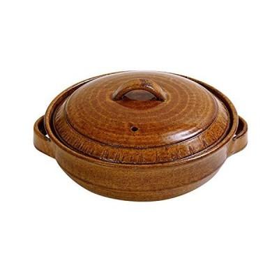 マルヨシ陶器(Maruyoshitouki) 土鍋 ブラウン 8号 REIWA M1442