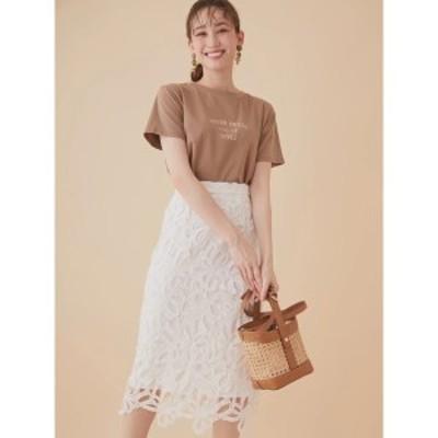 ファビュラスアンジェラ(Fabulous Angela)/リボンレースペンシルタイトスカート