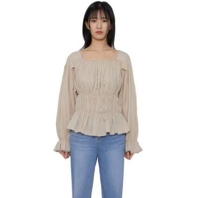 somedayif レディース ブラウス Baker square ruched blouse