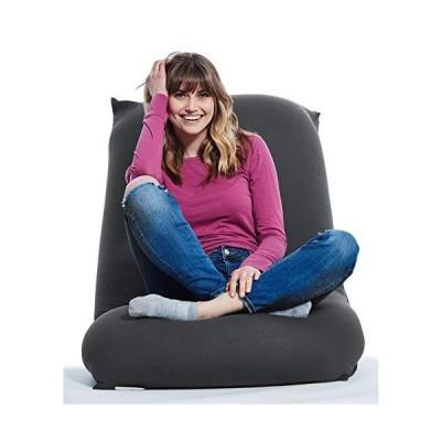 (新品) Yogibo Short Bean Bag Chair for Teens, Adults, Plush, Soft Lounge Beanbag for Gaming, Reading, and Relaxing, Removable, Washabl
