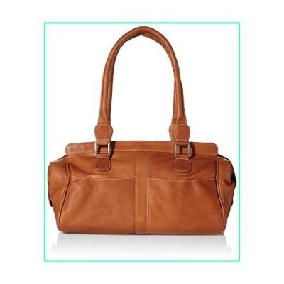 Piel Leather Double Handle Handbag, Saddle, One Size並行輸入品