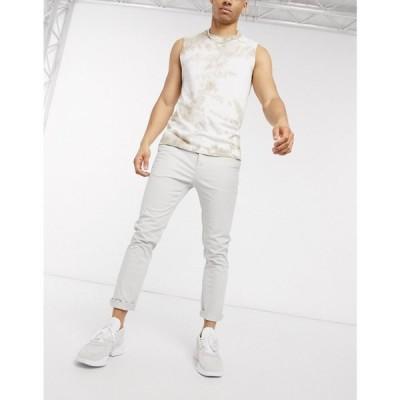 エイソス ASOS DESIGN メンズ チノパン ボトムス・パンツ Asos Design Skinny Ankle Grazer Chinos In Ice Grey