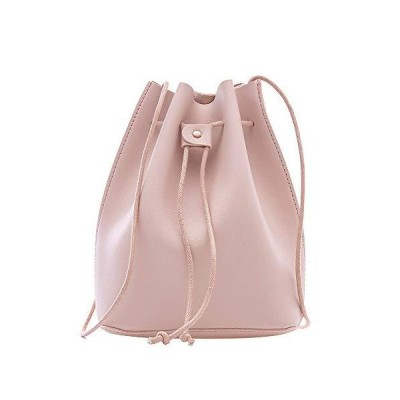 MINISO Fashionable Bucket Bag, Pink並行輸入品 送料無料