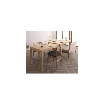 ダイニングテーブルセット 6人用 椅子 ベンチ 伸縮 伸長 北欧 6点 (机+チェア4+ソファベンチ1) デザイナーズ スタイリッシュ 大きい 幅140 150 160 180 200 220