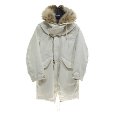 beautiful people giza moleskin filed coat モッズコート ホワイト サイズ:36 (京都店) 210224