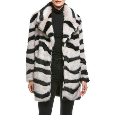 ファビラスファーズ レディース コート アウター Faux-Fur Tiger Sky Coat