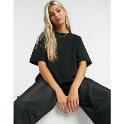 ウィークデイ Weekday レディース Tシャツ トップス Trish Organic Cotton Modern Boxy T-Shirt In Black ブラック
