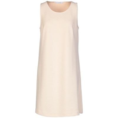 LANACAPRINA ミニワンピース&ドレス ベージュ 46 ポリエステル 95% / ポリウレタン 5% ミニワンピース&ドレス
